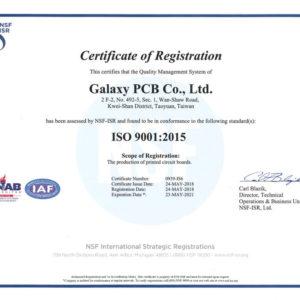 B9-ISO90012015證書